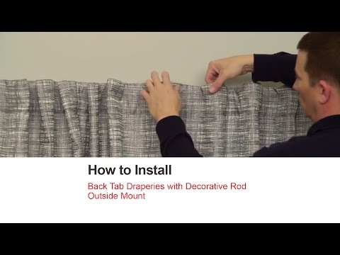 Bali Blinds | How to Install Back Tab Draperies with Decorative Rod - Outside Mount
