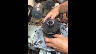 How to remove stuck lawnmower drive pulley