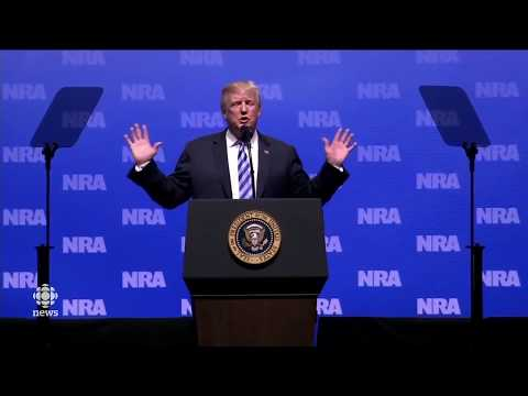 Trump speaks at NRA annual meeting LIVE