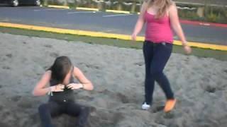 Wrestling at Mariah's 14th bday party!