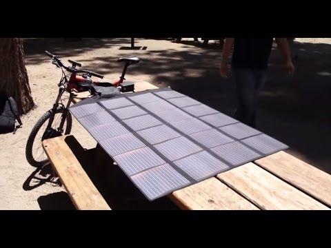 E-BIKE SOLAR PANELS WILDERNESS TEST BY HI TREK CYCLES