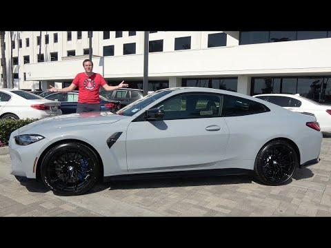 BMW M4 Competition 2021 года - это серьёзная спортивная машина