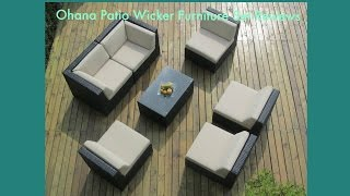 Ohana Collection Pn7037: Ohana Patio Wicker Furniture Set Reviews