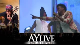 Korede Bello performing GODWIN at AY Live in Lagos