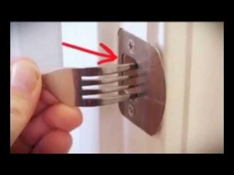 Dinner Fork Door Lock Review Youtube
