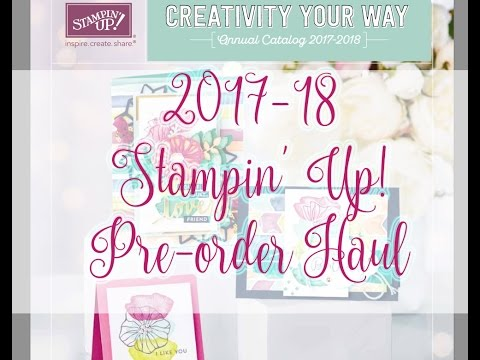 2017 2018 Stampin' Up! Annual Catalog Pre Order