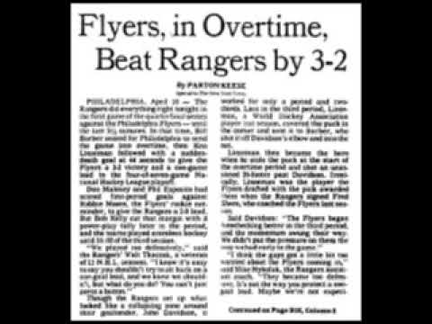 NY RANGERS at PHILADELPHIA FLYERS 1979 STANLEY CUP PLAYOFFS GAME 1 (AUDIO)