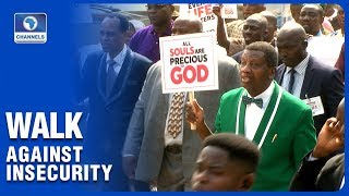 Pastor Adeboye Leads RCCG Members In Walk Against Insecurity