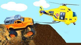 Мультики про машинки - гонки застряли в грязи - Мультфильм с игрушками для детей