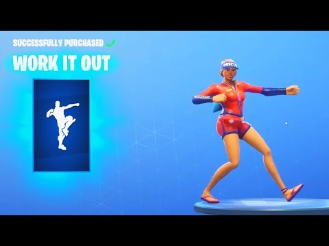 *NEW* WORK IT OUT DANCE EMOTE (Fortnite Item Shop Update August 12)