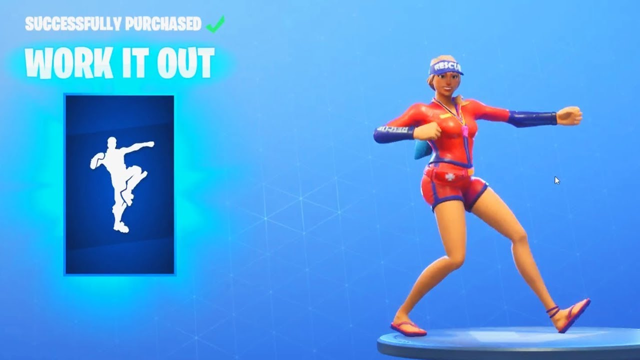 New Work It Out Dance Emote Fortnite Item Shop Update August 12 Youtube