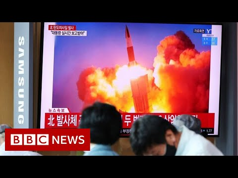 North and South Korea in 'arms race' as both test ballistic missiles - BBC News