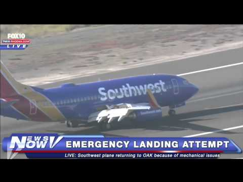 FNN: Southwest Plane Attempts to Land at Oakland Airport after Mechanical Issues Reported