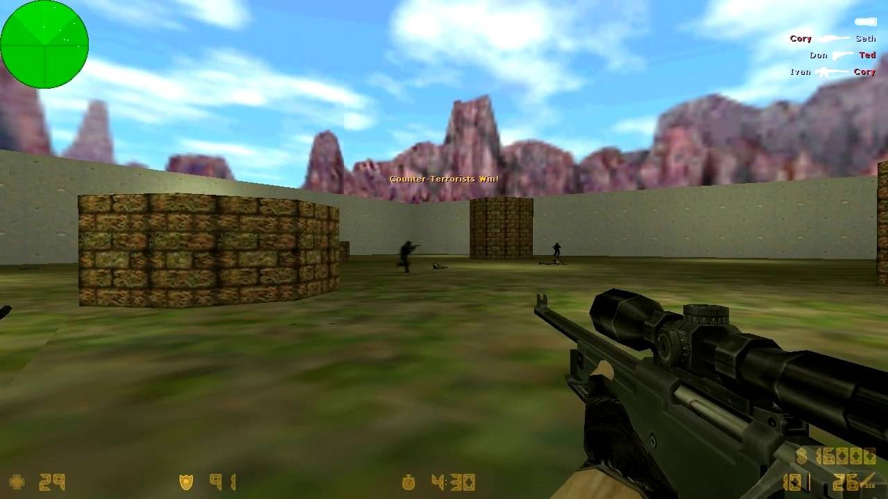 Maen game jadul #2 counter strike 1 6 maps AWP