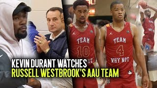 Kevin Durant & Coach K Watch Cassius Stanley GET BOUNCY! + Snatch Bro Jovan Blacksher COULDN'T MISS