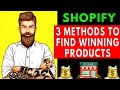 shopify product research | 3 methods to find winning products (Dropshipping)