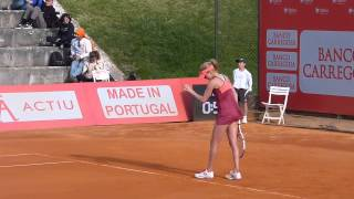 Urszula Radwanska playing at the Portugal Open 2013