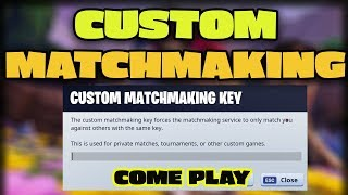 💜 CUSTOM MATCHMAKING GAMES //MIXED SERVERS - Scrims PUBLIC COME JOIN LIVE now // Fortnite live