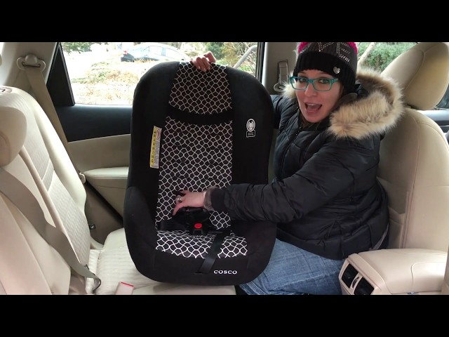 How To Install Cosco Scenera Next REAR Facing With Seatbelt