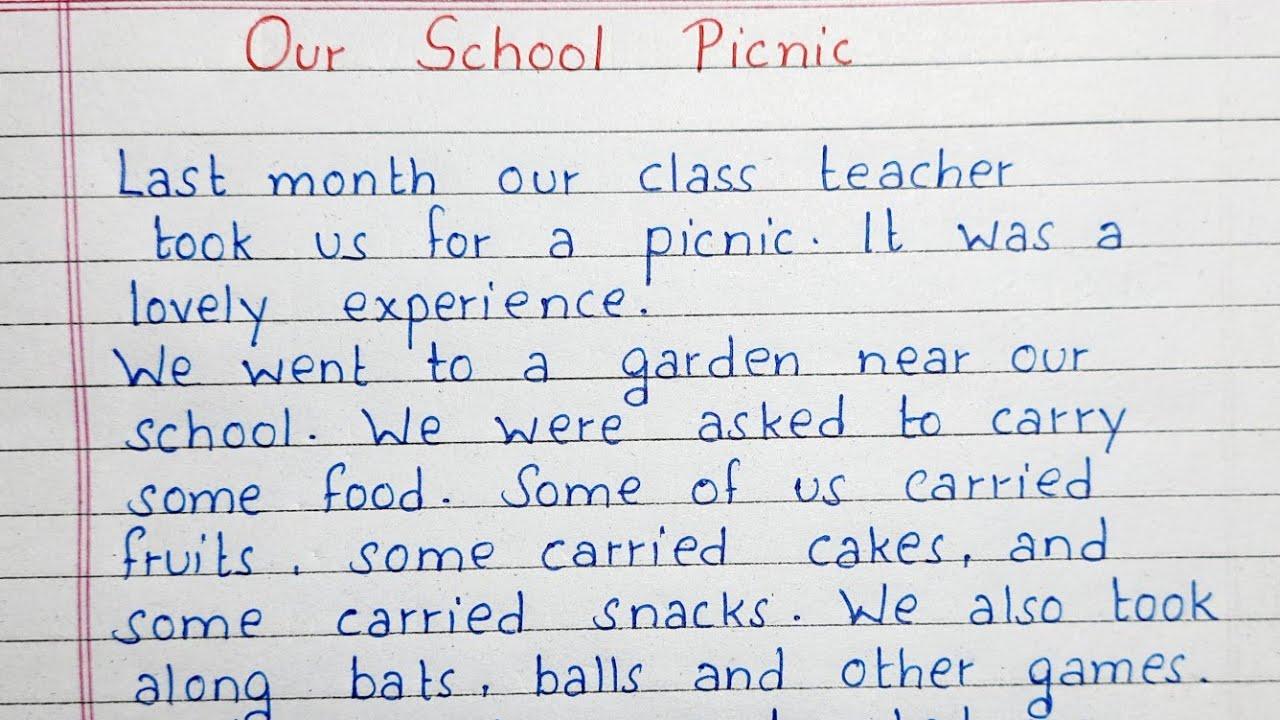essay on picnic for school kids