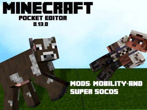 Minecraft Pe Mods 0.13.0 Thi võ thuật :D Võ chân và võ tay :d Mobility+ 0.13 and Super Socos