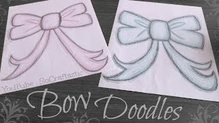How to Draw Bow Doodles with SoCraftastic