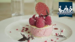 Rillette of goose, beef fillet and raspberry bavarois recipes from Michelin star chef Simon Bonwick