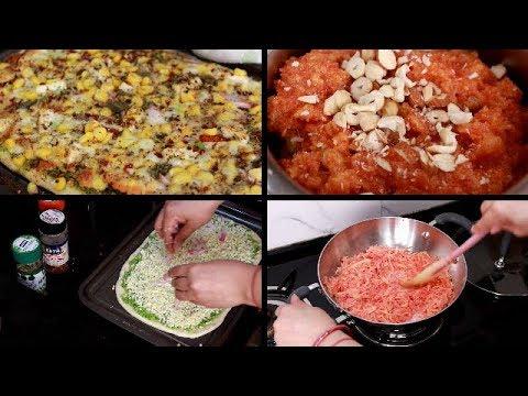 weekend-special-dinner- -pizza-recipe- -instant-gajar-ka-halwa- -hindivlog
