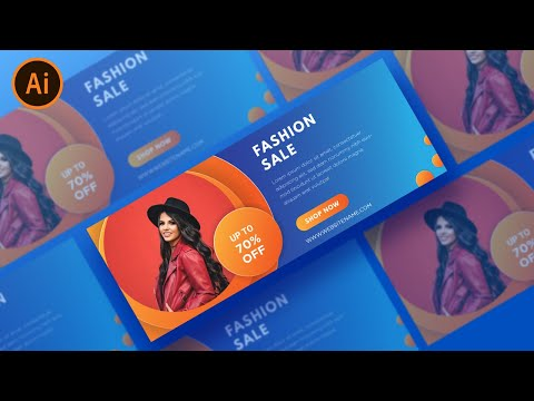 Illustrator Tutorial | Simple Web Banner Design | (Fashion) thumbnail