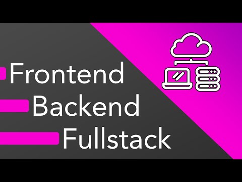 Frontend vs Backend vs Fullstack Web Development - What should you learn?