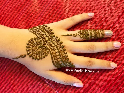LEARN STYLISH MEHENDI IN LESS THAN 3 MINUTES | 3 MINUTE VIDEO HOW TO APPLY PROFESSIONAL HENNA MEHNDI