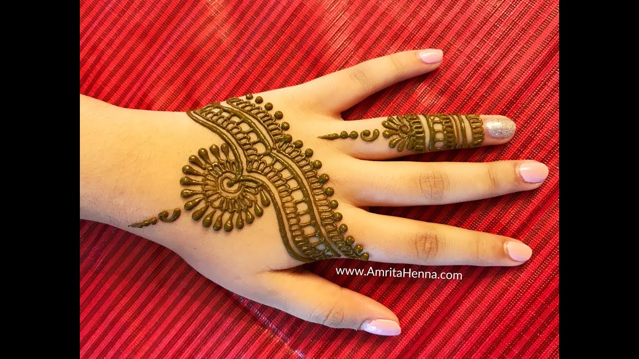 learn stylish mehendi in less than 3 minutes 3 minute