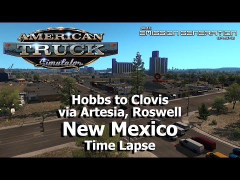New Mexico - Hobbs to Clovis - Time Lapse - American Truck Simulator |