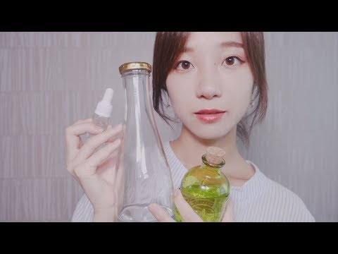 ASMR 11 Tapping, Water Bottle, Shaking, Pipet, Foam, Blowing Trigger Sounds (No Talking)