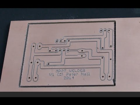 diy microwave spot welder - timing circuit board