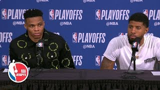 Download Paul George still trying to find his rhythm after loss to Trail Blazers | 2019 NBA Playoffs Mp3 and Videos