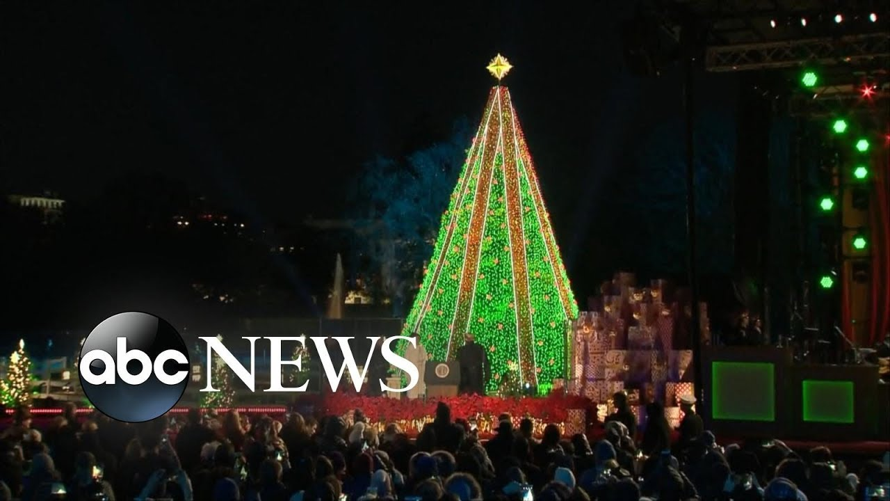 National Christmas Tree Lighting.National Christmas Tree Lighting Ceremony 2018 Trump First Lady Participate In Holiday Tradition