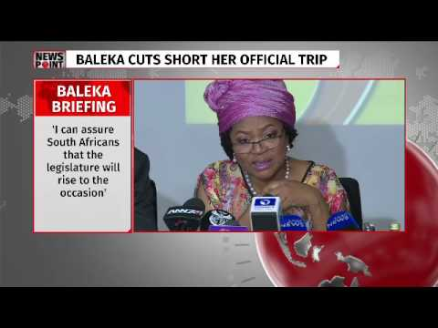 Baleka Mbete media briefing