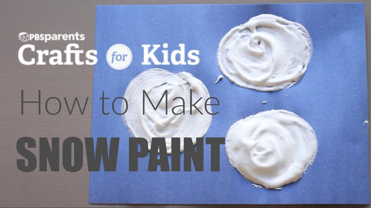 How to make snow paint pbs parents crafts for kids for How to make craft