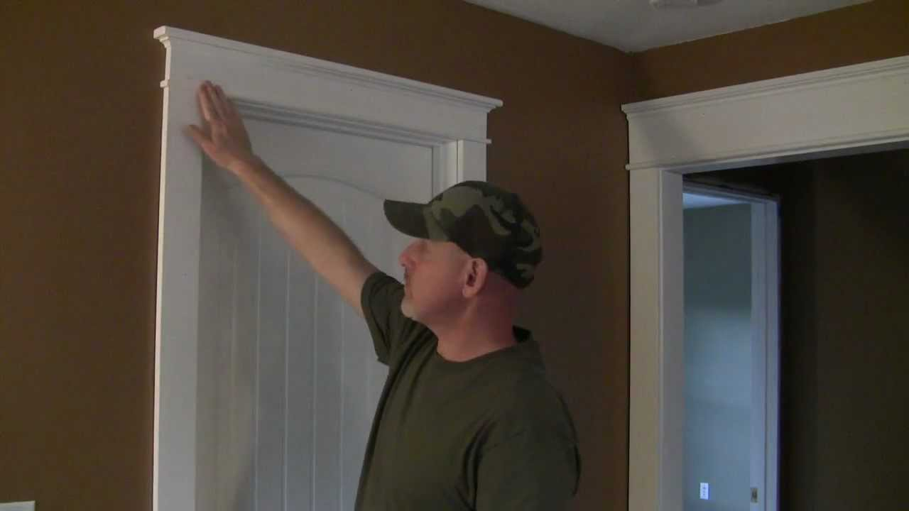 How to Trim a Craftsman Style Door Pt 1 - YouTube