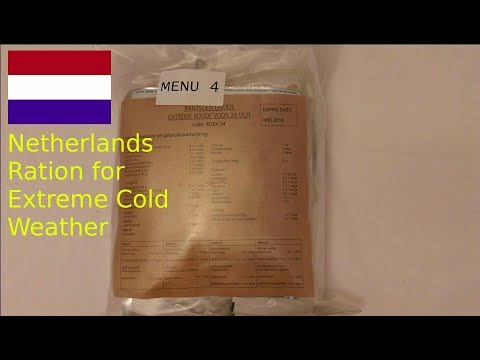 {RARE} Netherlands Ration for Arctic / Extreme Cold Weather (ROEK 34) Menu 4