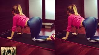 Cansu Taskın Daracık Taytı ile Pilates Yapıyor Cansu Taskın Frikik Cansu Taskın Spor Yapıyor