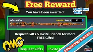 8 Ball Pool Loot Offer 2018 Get Free 【 Inferno Cue 】 Limited Offer Loot 😎