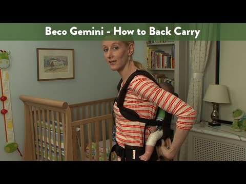 Beco Gemini How To Back Carry Cloudmom Youtube
