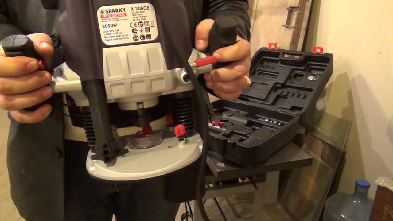 Ручной фрезер Sparky X205CE - YouTube