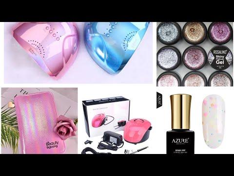 МЕГА распаковка посылок с AliExpress для маникюра. BeautyBigBang , AZURE, ЛАМПЫ АЭРОГРАФФ