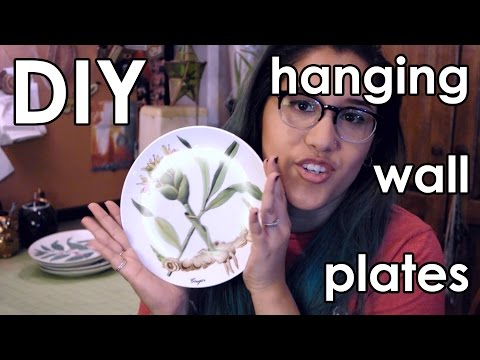 DIY: How to make Hanging Plate Wall Decor