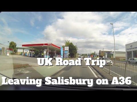 UK Road Trip Leaving Salisbury on A36