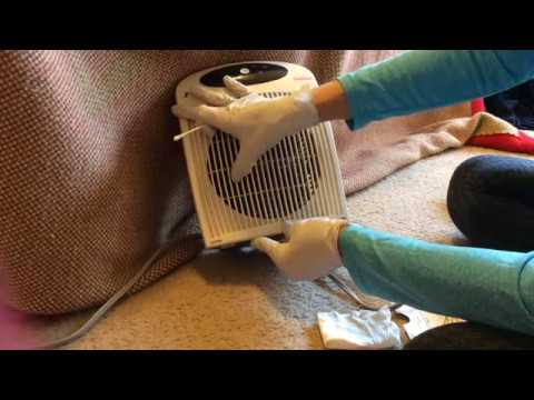 ASMR Cleaning Dusting Wiping My Fan (no Talking Or Tapping Etc)