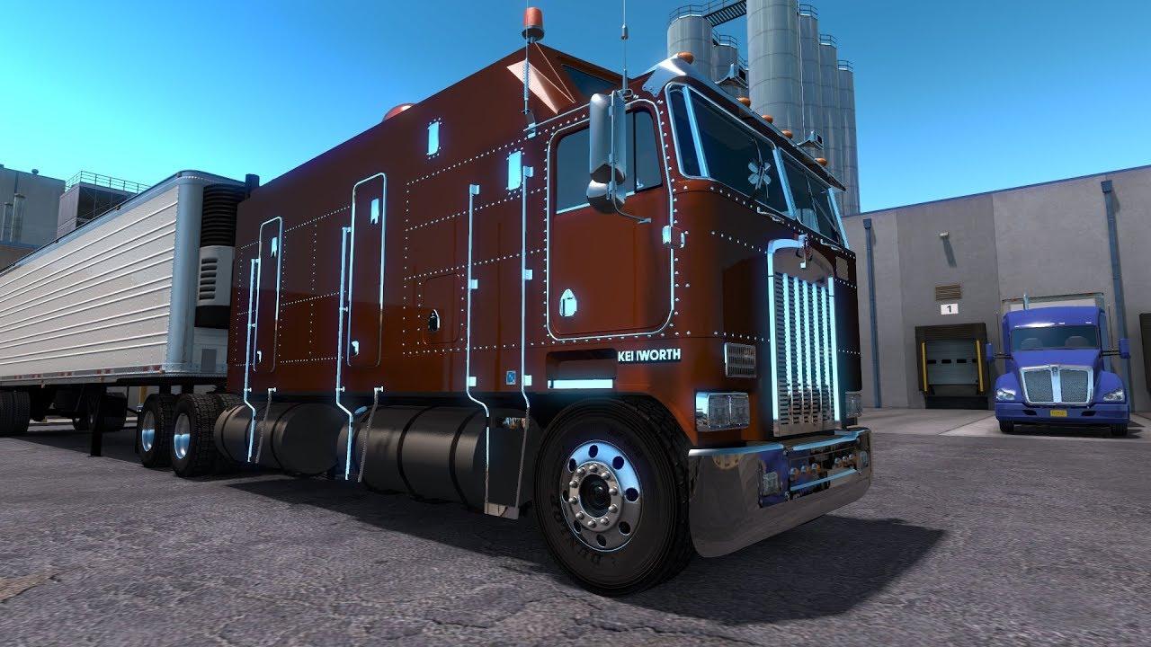 american truck simulator kenworth k100 super cab youtube. Black Bedroom Furniture Sets. Home Design Ideas